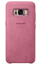 Etui Alcantara Cover do Galaxy S8 Różowe (EF-XG950APEGWW)