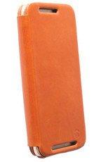Etui Krusell Kiruna FlipCase Brązowy do HTC One M9