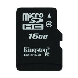 KINGSTON Karta Pamięci microSDHC 16GB bez adaptera SDC4/16GBSP