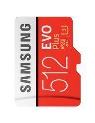 Karta pamięci Samsung MicroSDXC EVO+ 512GB class 10 + adapter (MB−MC512GA/EU)