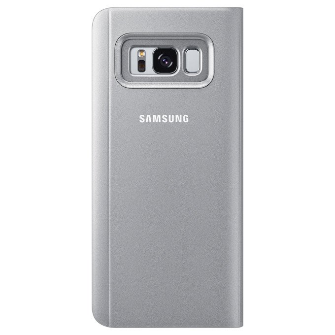 Etui Clear View cover do Galaxy S8 Srebrne (EF-ZG950CSEGWW)