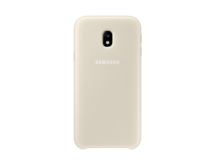 Etui Dual Layer Cover Złote do Samsung Galaxy J3 (2017) EF-PJ330CFEGWW