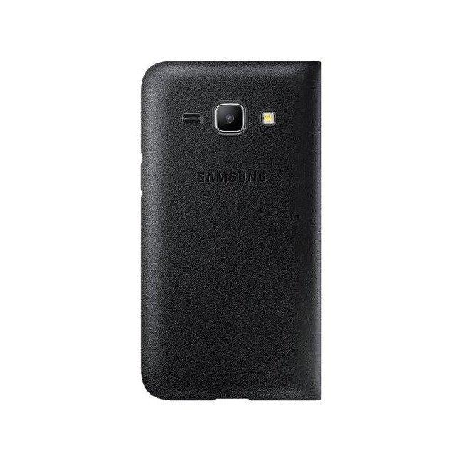 Etui Flip Wallet Czarne do Samsung Galaxy J1 EF-FJ100BBEGWW