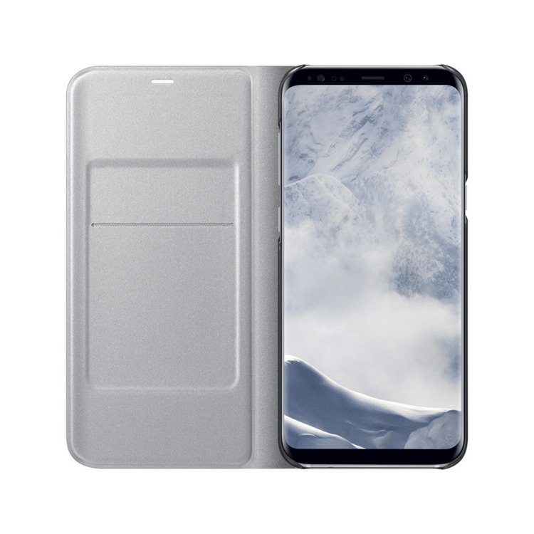 Etui LED View cover do Galaxy S8+ Srebrne (EF-NG955PSEGWW)