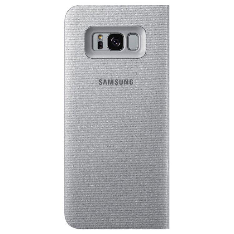 Etui LED View cover do Galaxy S8+ Srebrne (EF-NG955PSEGWW)