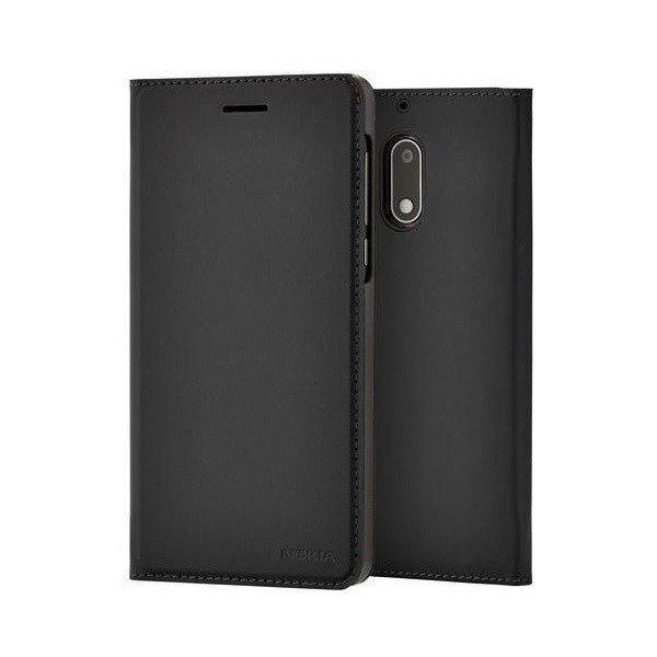 Etui Nokia Slim Flip Cover CP-301 Czarne do Nokia 6