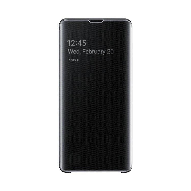 Etui Samsung CLEAR View Cover Czarny do Galaxy S10 (EF-ZG973CBEGWW)