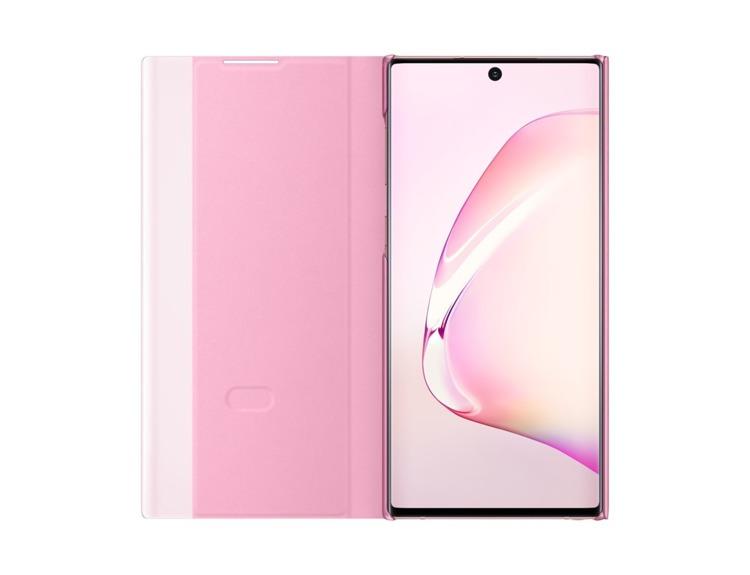 Etui Samsung CLEAR View Cover Różowy do Galaxy Note 10 (EF-ZN970CPEGWW)