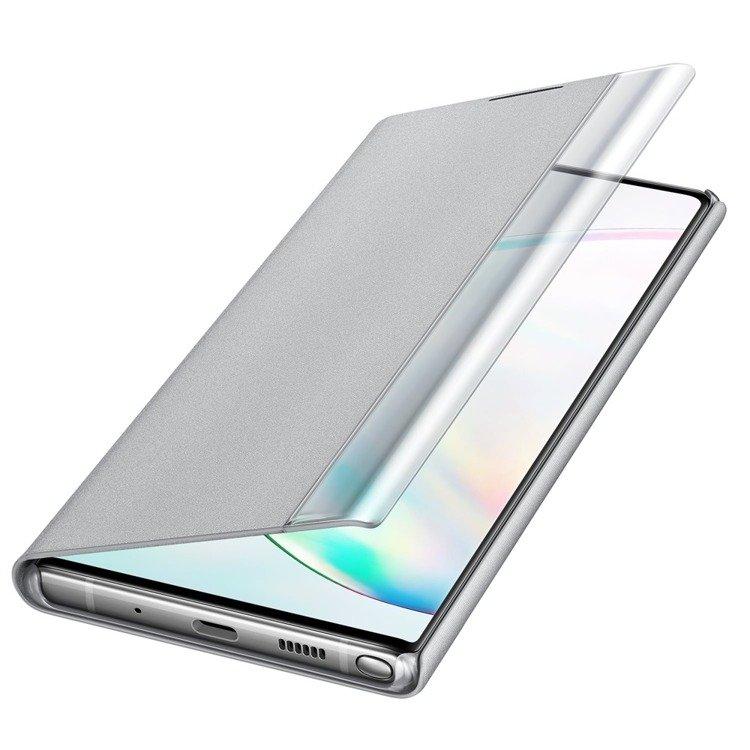Etui Samsung CLEAR View Cover Srebrny do Galaxy Note 10+ (EF-ZN975CSEGWW)