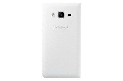 Etui Samsung Flip Wallet Biały do Galaxy J3 (2016) EF-WJ320PWEGWW
