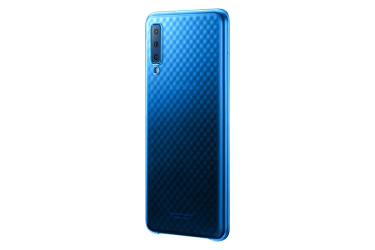 Etui Samsung Gradation Cover Czarne do Galaxy A7 (2018) EF-AA750CLEGWW