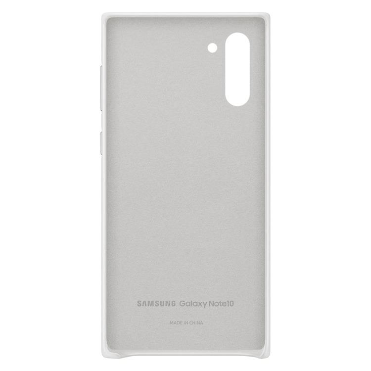 Etui Samsung Leather Cover Biały do Galaxy Note 10 (EF-VN970LWEGWW)