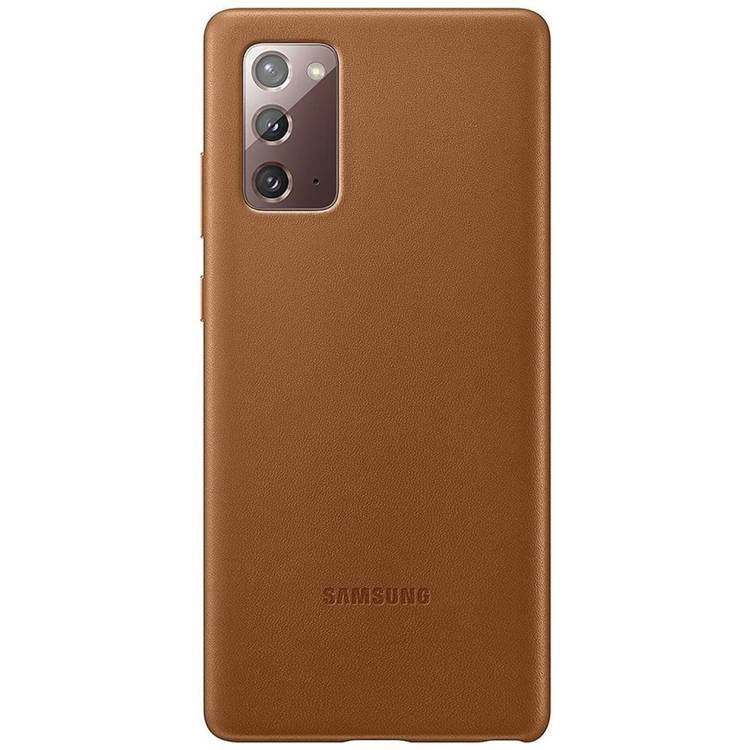 Etui Samsung Leather Cover Brązowe do Galaxy Note 20 (EF-VN980LAEGEU)