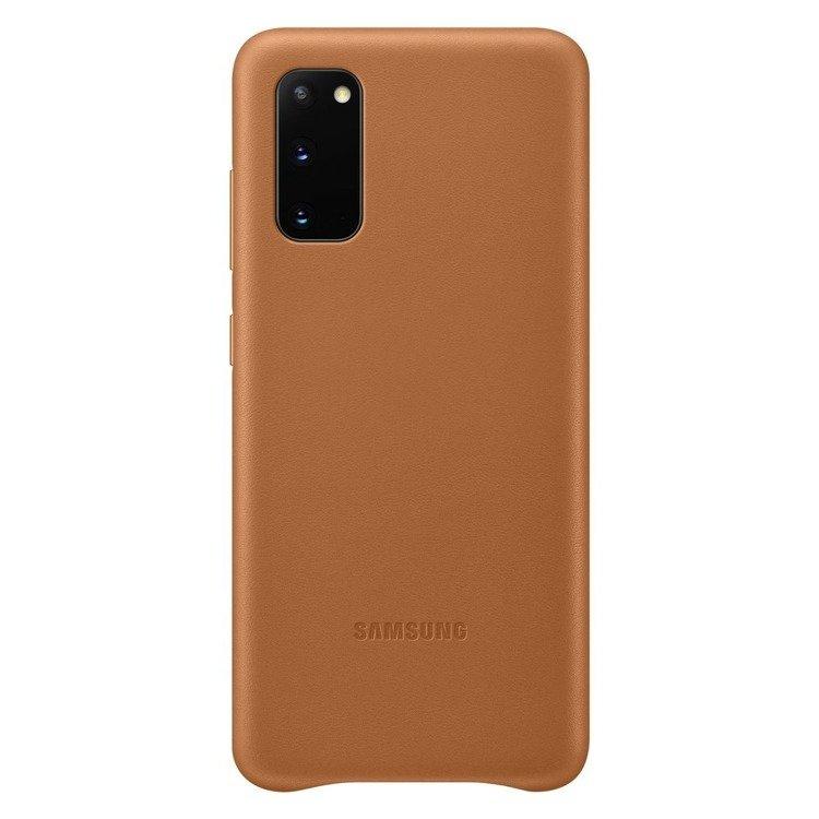 Etui Samsung Leather Cover Brązowe do Galaxy S20 (EF-VG980LAEGEU)