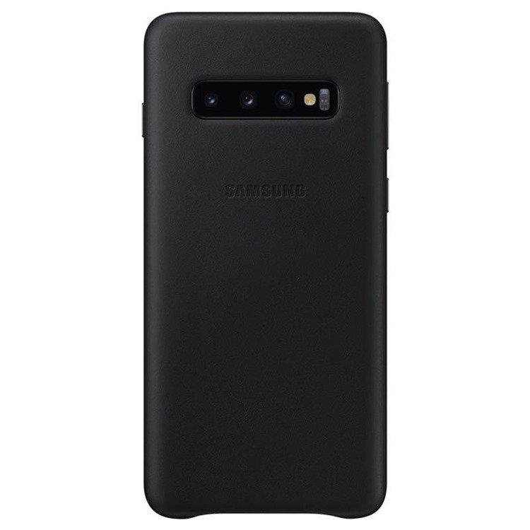 Etui Samsung Leather Cover Czarny do Galaxy S10 (EF-VG973LBEGWW)