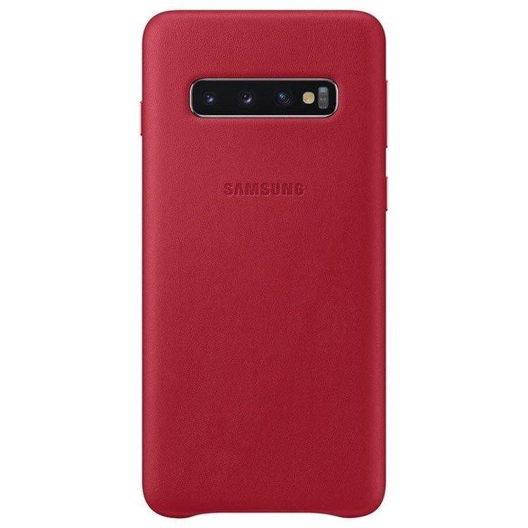 Etui Samsung Leather Cover Czerwony do Galaxy S10+ (EF-VG975LREGWW)
