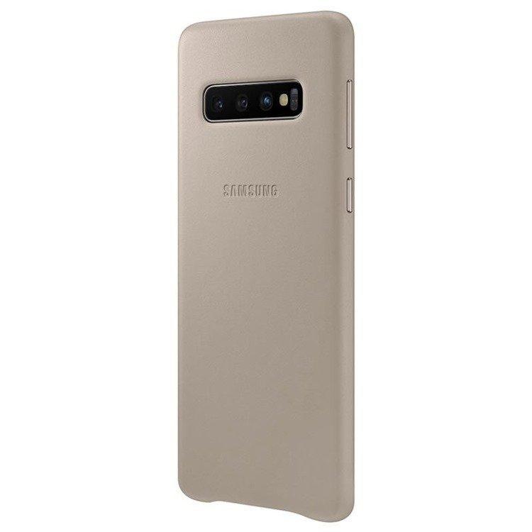 Etui Samsung Leather Cover Szary do Galaxy S10 (EF-VG973LJEGWW)