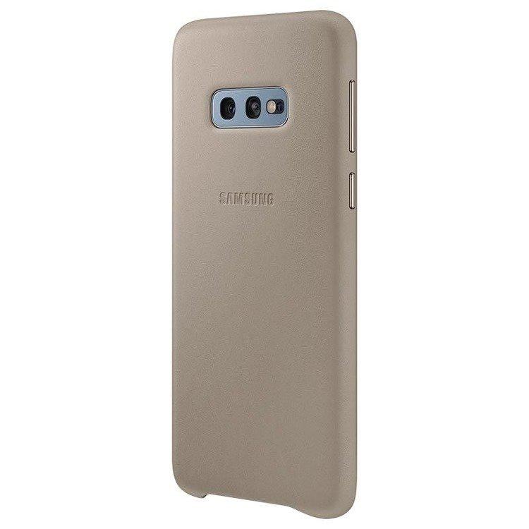 Etui Samsung Leather Cover Szary do Galaxy S10e (EF-VG970LJEGWW)