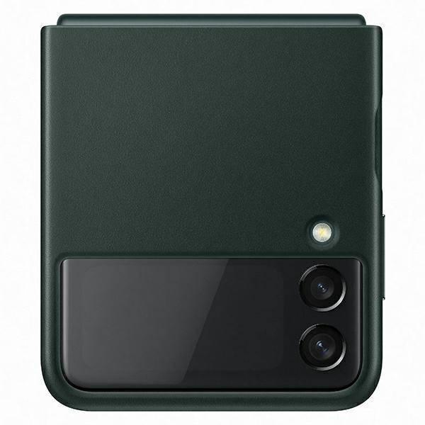 Etui Samsung Leather Cover Zielony do Galaxy Z Flip3 5G (EF-VF711LGEGWW)