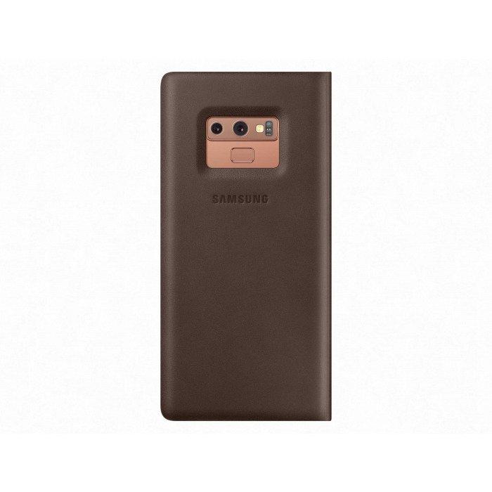 Etui Samsung Leather Wallet Cover Brązowe do Galaxy Note 9 (EF-WN960LAEGWW)
