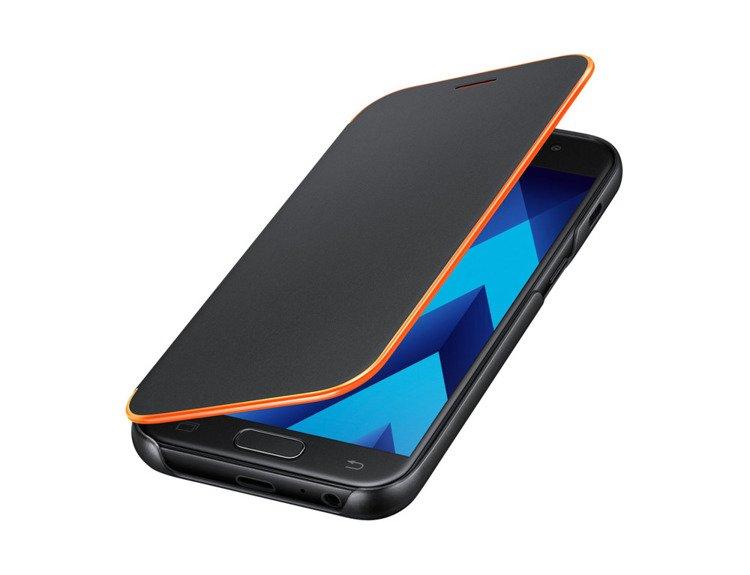 Etui Samsung Neon Flip Cover do Galaxy A3 2017 Czarne EF-FA320PBEGWW