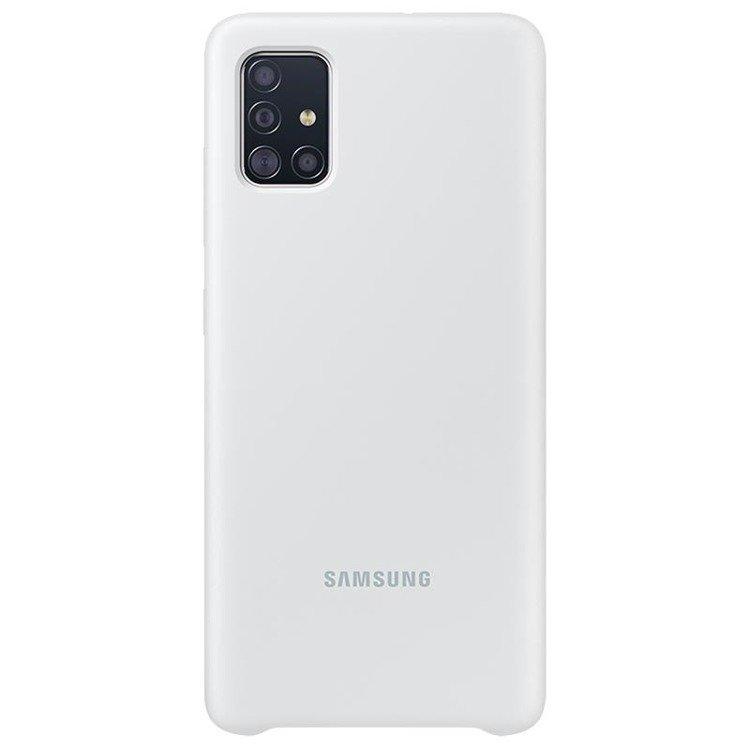 Etui Samsung Silicone Cover Biały do Galaxy A51 (EF-PA515TWEGEU)