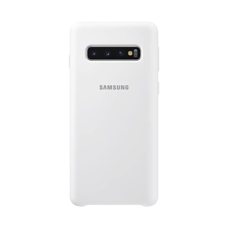 Etui Samsung Silicone Cover Biały do Galaxy S10 (EF-PG973TWEGWW)
