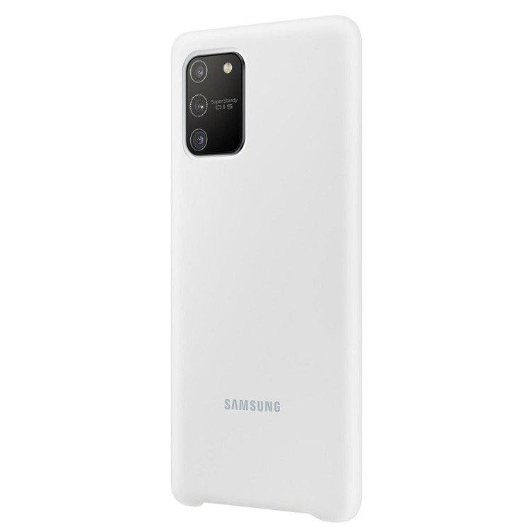 Etui Samsung Silicone Cover Biały do Galaxy S10 Lite (EF-PG770TWEGEU)