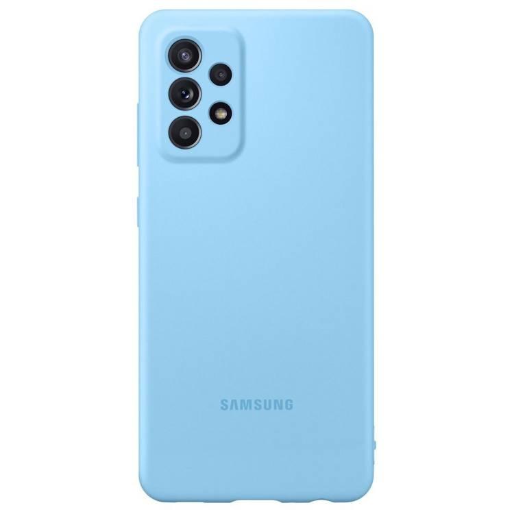 Etui Samsung Silicone Cover Niebieski do Galaxy A52 (EF-PA525TLEGWW)
