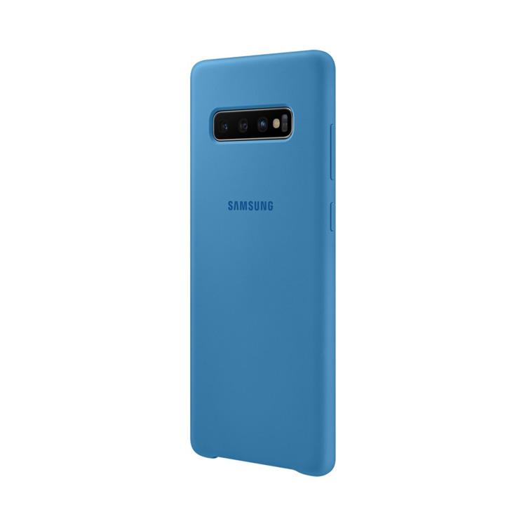 Etui Samsung Silicone Cover Niebieski do Galaxy S10+ (EF-PG975TLEGWW)
