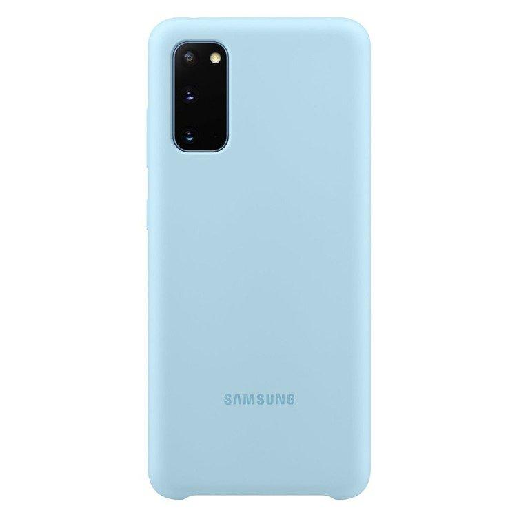 Etui Samsung Silicone Cover Niebieski do Galaxy S20 (EF-PG980TLEGEU)