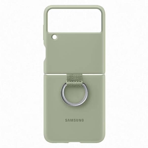Etui Samsung Silicone Cover With Ring Oliwkowy do Galaxy Z Flip3 5G (EF-PF711TMEGWW)