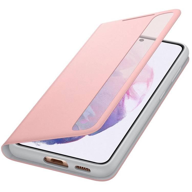 Etui Samsung Smart CLEAR View Cover Różowy do Galaxy S21 (EF-ZG991CPEGEW)
