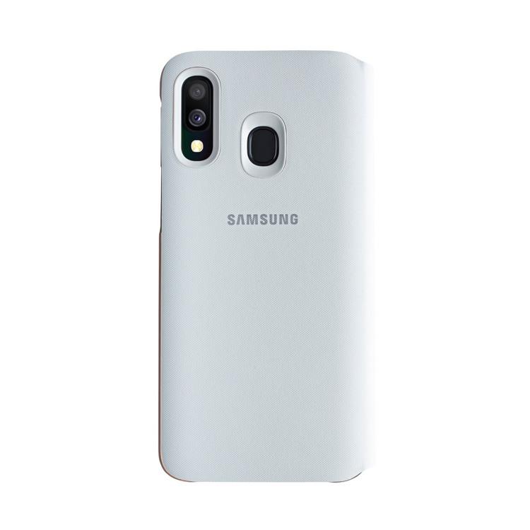 Etui Samsung Wallet Cover Białe do Galaxy A40 (EF-WA405PWEGWW)