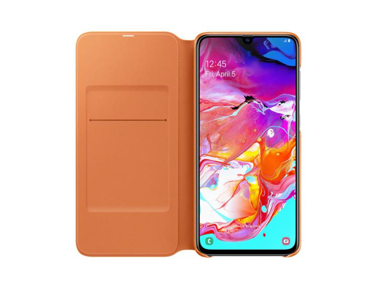 Etui Samsung Wallet Cover Białe do Galaxy A70 (EF-WA705PWEGWW)