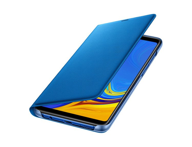 Etui Samsung Wallet Cover Niebieskie do Galaxy A9 (2018) EF-WA920PLEGWW