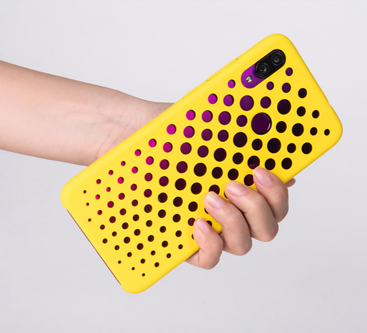 Etui oryginalne Xiaomi Art Hard Case Yellow do Xiaomi Redmi Note 7 żółte