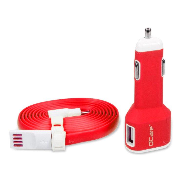 Ładowarka Samochodowa O'Care 2*USB 2400mA Czerwona