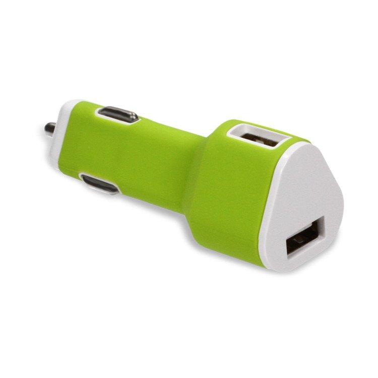 Ładowarka Samochodowa O'Care 2*USB 2400mA Zielona