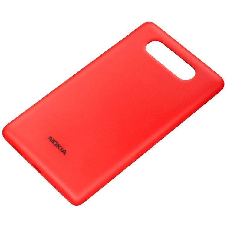 Obudowa do ładowania bezprzewodowego Nokia CC-3041 Czerwony Matt do Lumia 820
