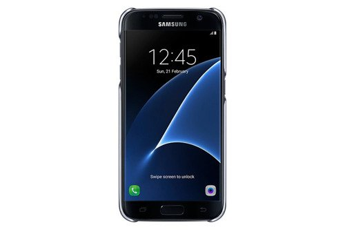 Samsung Etui Clear Cover Czarne do Galaxy S7 EF-QG930CBEGWW