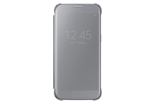Samsung Etui Clear View Cover Srebrne do Galaxy S7 EF-ZG930CSEGWW