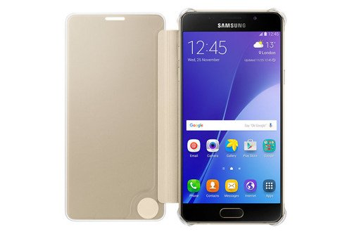 Samsung Etui Clear View Cover Złote do Galaxy A5 (2016) EF-ZA510CFEGWW