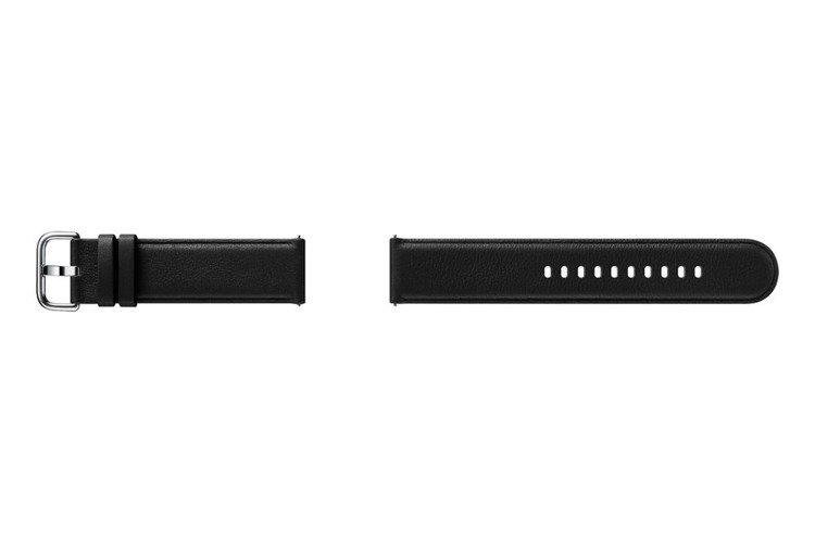 Samsung Pasek Skórzany Czarny do Galaxy Watch Active/Active 2 20mm (ET-SLR82MBEGWW)