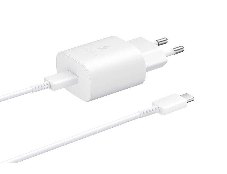 Samsung Szybka Ładowarka podróżna (25W) USB-C Biała (EP-TA800XWEGWW)