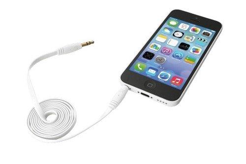 Trust Płaski Przewód Audio 2*3,5mm (1m) Biały