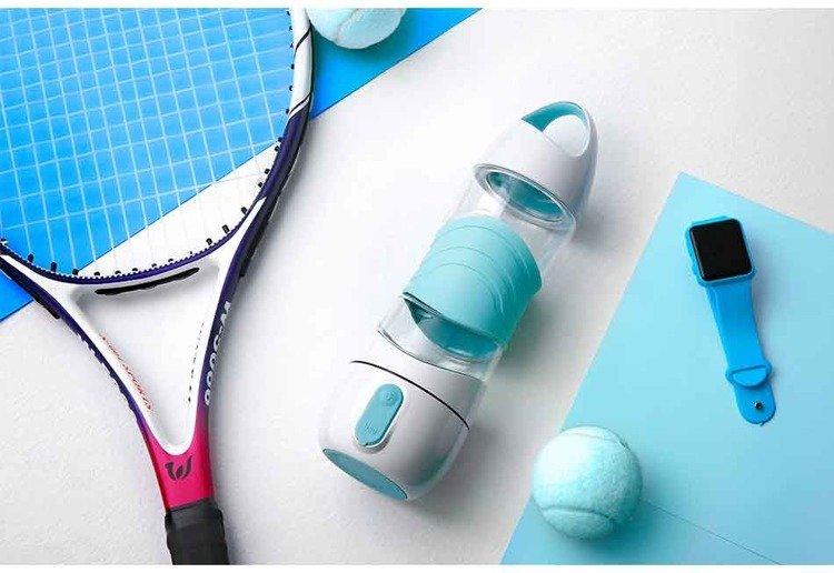 Wielofunkcyjny bidon sportowy Xiaomi Leyi DiDi Cup Blue