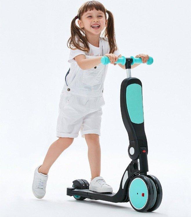 Wielofunkcyjny pojazd dziecięcy 5 w 1 BeBehoo Niebieski